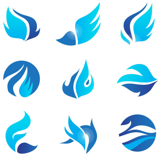 Abstract Blue Logo Vector Free Download