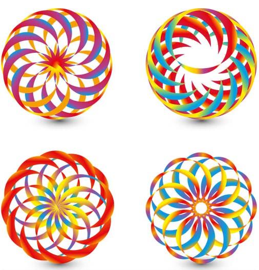 Abstract Circle Logo art vectors