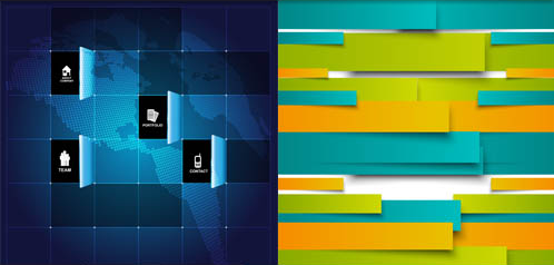 Abstract Color Backgrounds 3 vectors graphic