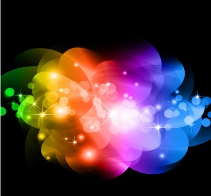 Abstract Colorful Glowing Background Graphic vector