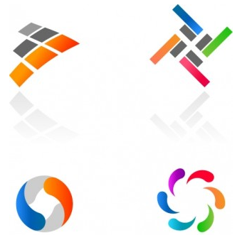 Abstract Colorful Logotypes vector