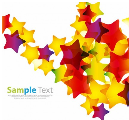 Abstract Colorful Stars Background Vector design