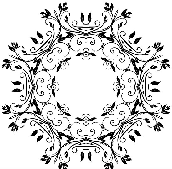 Abstract Floral Decorative Vector material 01