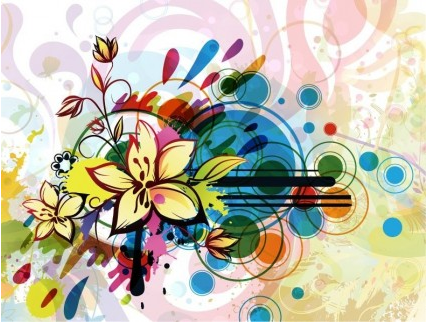 Abstract Flower Background art vector
