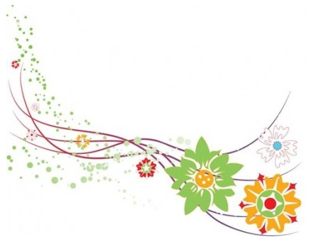 Abstract Flower Design Graphic vector graphic