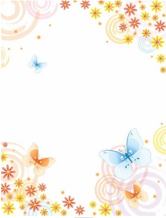 Abstract Flower with Butterfly Background vector