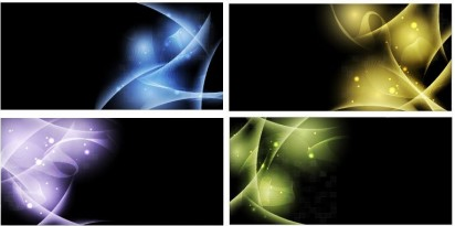 Abstract Light Background vector set