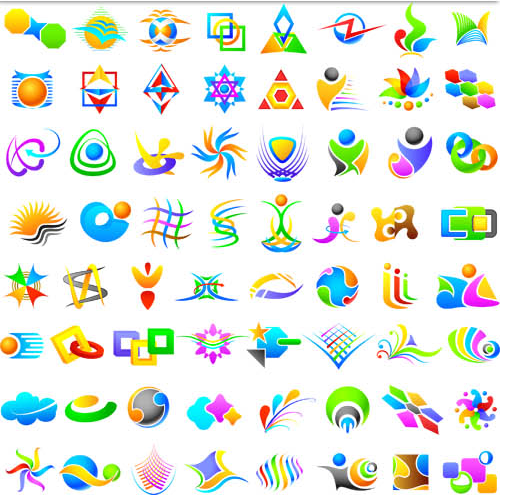 Abstract Logotypes design vector