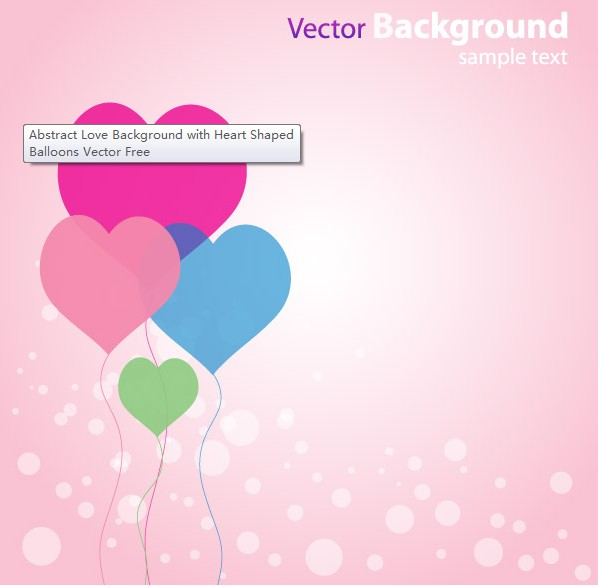 Abstract Love Background Illustration vector