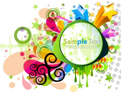 Abstract Modern Colorful Design vector