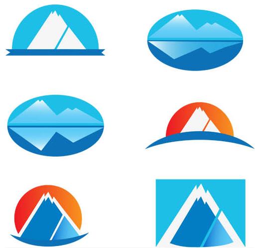 Abstract Mountains Logo 3 vector graphic