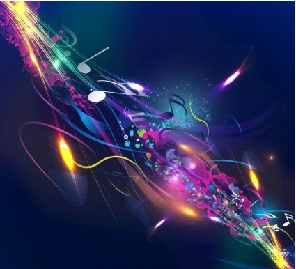 Abstract Music Design Background set vector