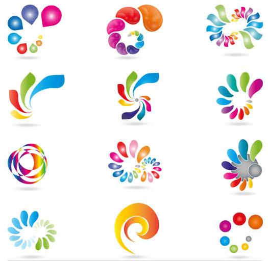 Abstract Shiny Logotypes 3 vector