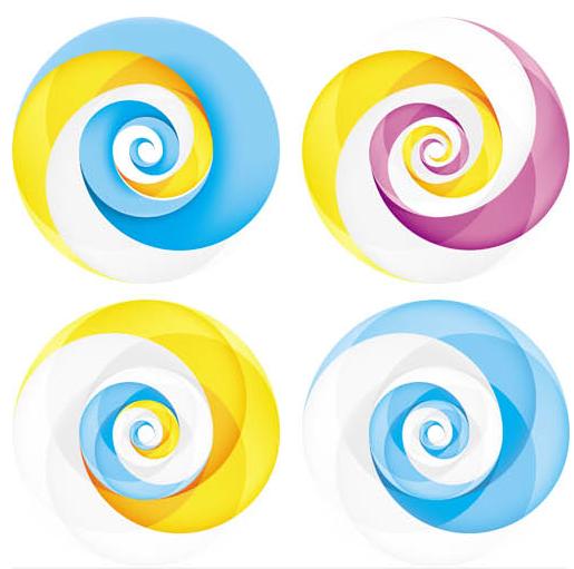 Abstract Shiny Logotypes 5 vector