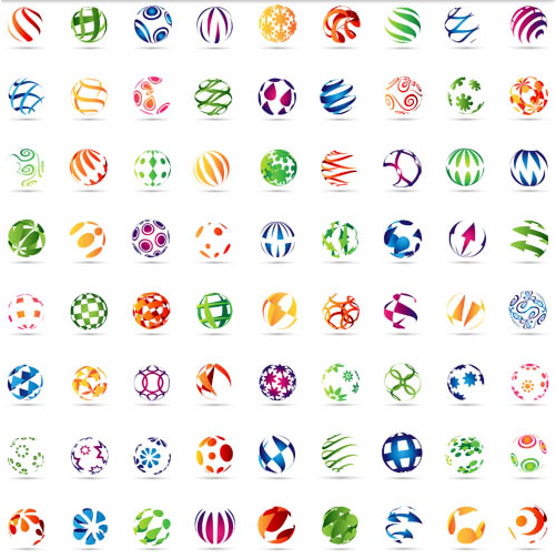 Abstract Sphere Logotypes Vector vector graphics