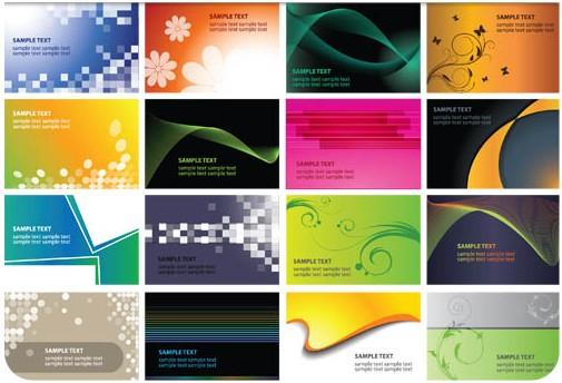 Abstract Vivid Cards vectors