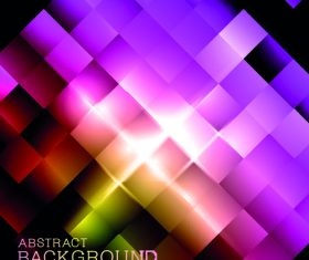Abstract background with colored light vector