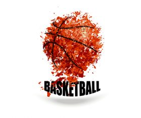 Abstract basketball background illustration vectors 01