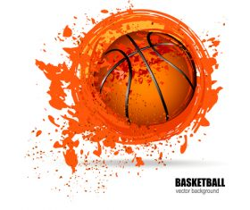Abstract basketball background illustration vectors 02