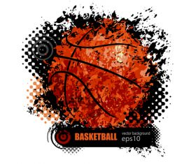 Abstract basketball background illustration vectors 04