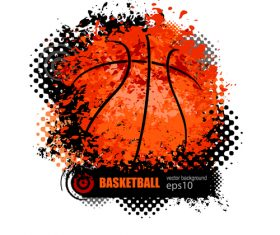 Abstract basketball background illustration vectors 05