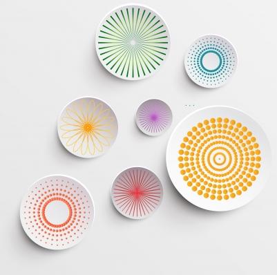Abstract circle decor Free design vectors