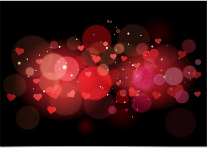 Abstract heart background design vectors
