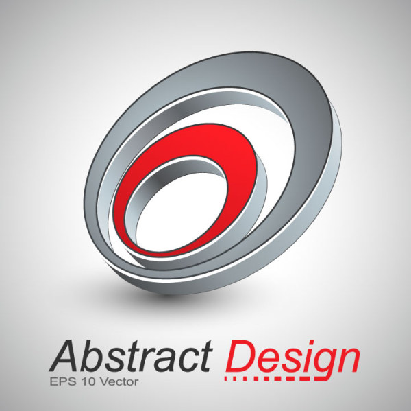 Abstract shapes design 4 set vector