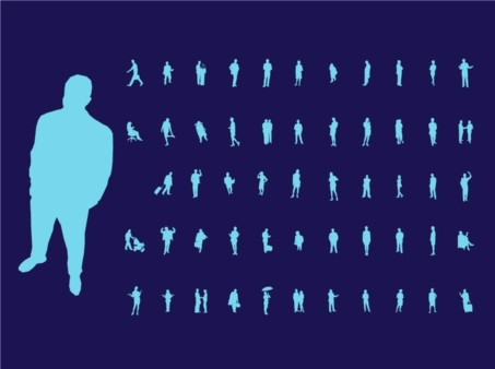 Active People Silhouettes vector