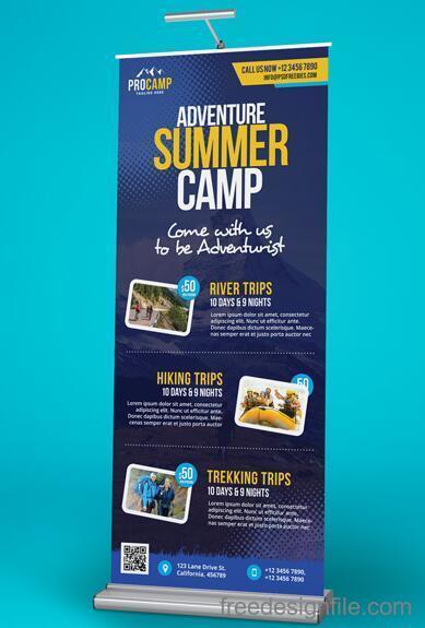 Adventure ummer Camp Show Banner PSD Material