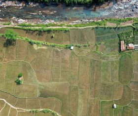 Aerial photography farmland Stock Photo 09