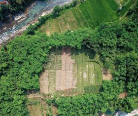 Aerial photography farmland Stock Photo 10