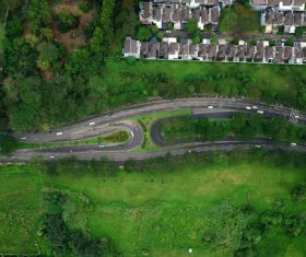 Aerial photography residential area Stock Photo 03