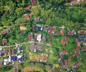 Aerial photography residential area Stock Photo 04