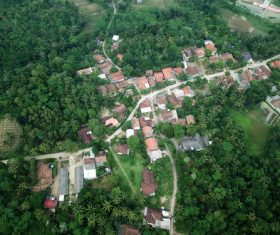 Aerial photography residential area Stock Photo 05