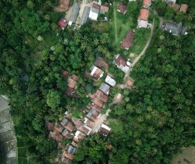Aerial photography residential area Stock Photo 06