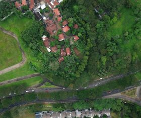 Aerial photography residential area Stock Photo 09
