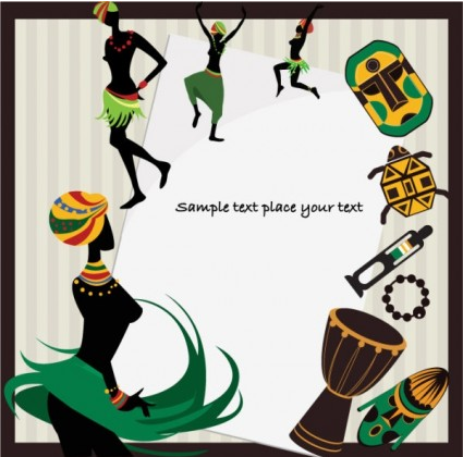 African background pattern 04 vector