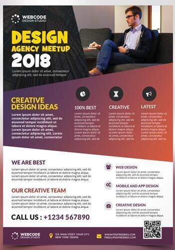 Agency Meetup Flyer PSD Template