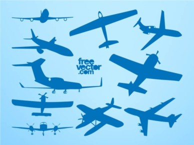 Airplane Silhouettes vectors