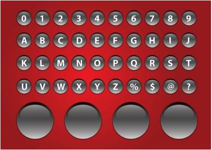 Alphabet Buttons free vectors