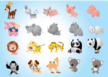 Animal Cartoons Pack vector