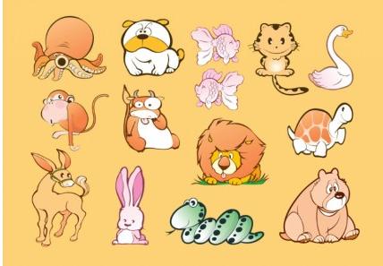 Animal Cartoons vectors