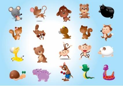 Animal Characters Vector