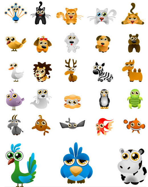 Animals graphic 2 vector graphic