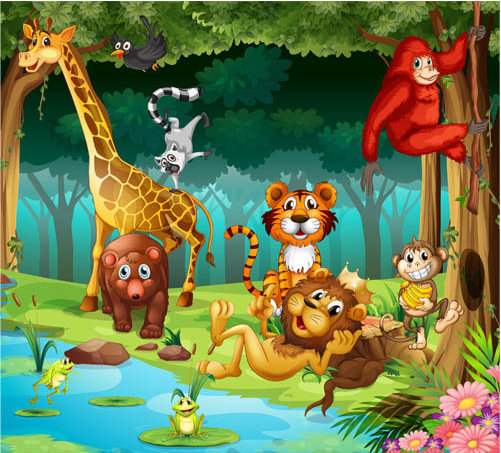 Animals In Zoo 2 Vector Free Download