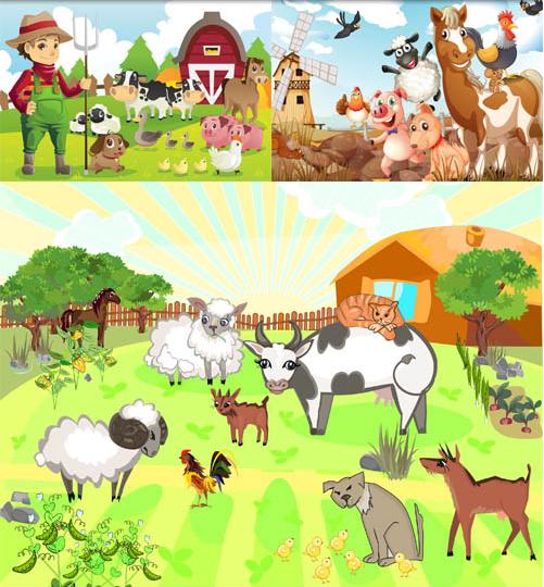 Animals on Farm 2 vector graphic
