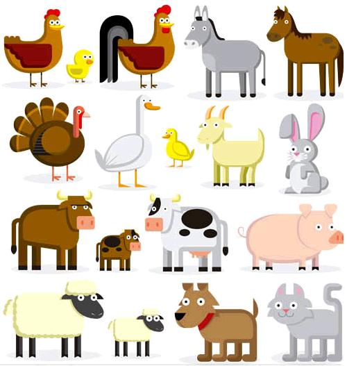 Animals on Farm free Illustration vector
