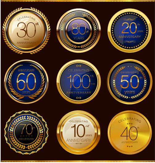 Anniversary Labels 2 vectors graphics