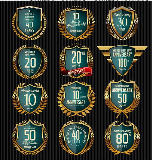 Anniversary Symbols Set vector